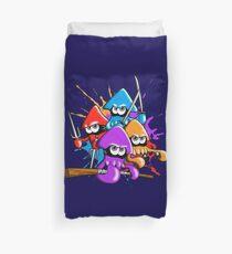 Teenage splatter ninja squids. Duvet Cover