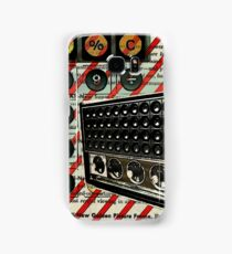 geeky nerdy retro calculator vintage shortwave radio  Samsung Galaxy Case/Skin