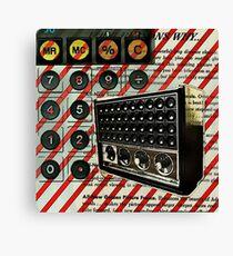 geeky nerdy retro calculator vintage shortwave radio  Canvas Print