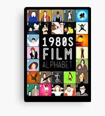 1980's Film Alphabet Canvas Print
