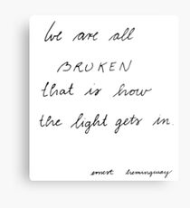 we are all broken Metal Print