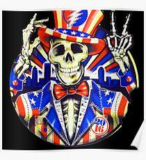 Mister Uncle Sam Skull Poster