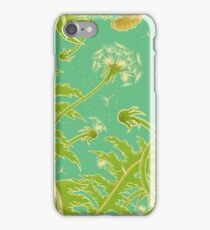Bright sunny illustration of a field of dandelion. iPhone Case/Skin
