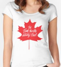 The True North, Maple Leaf in Red Women's Fitted Scoop T-Shirt