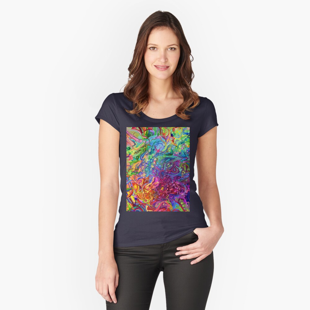 This Page Intentionally Left Blank - Digital Art & Painting Fitted Scoop T-Shirt