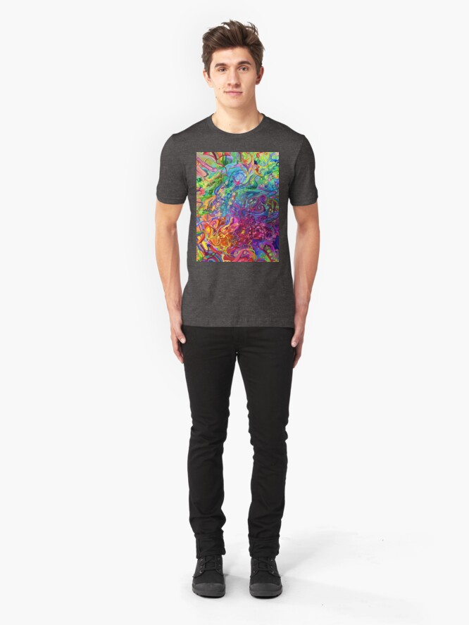 Alternate view of This Page Intentionally Left Blank - Digital Art & Painting Slim Fit T-Shirt