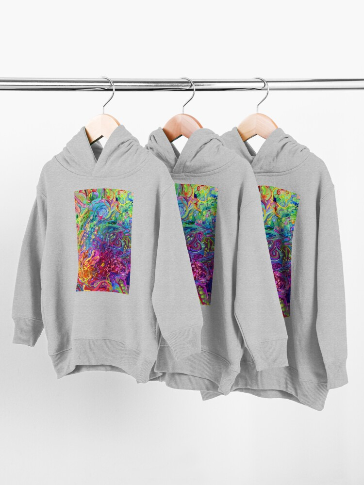 Alternate view of This Page Intentionally Left Blank - Digital Art & Painting Toddler Pullover Hoodie