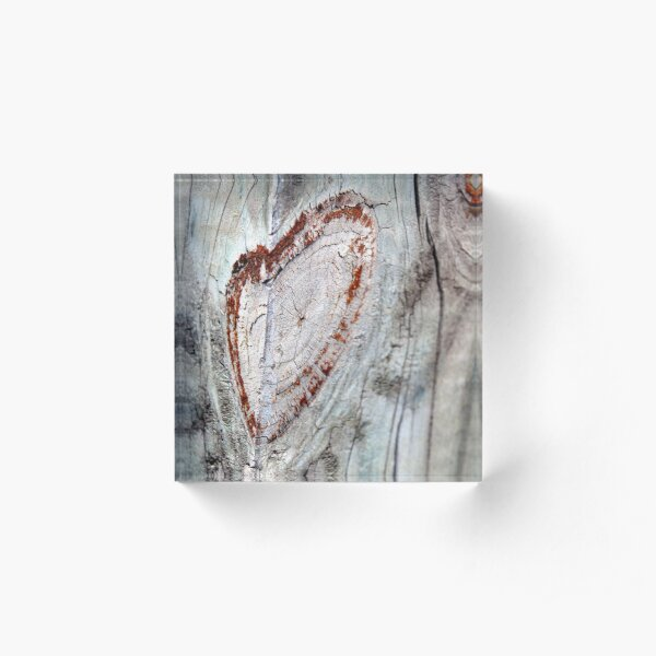Smiley Heart Acrylic Block