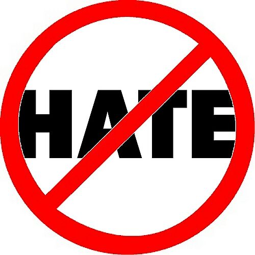 NOT HATE - A collaborative effort with Helen Bascom by Paul Quixote Alleyne