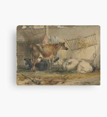 Cows, England, by John Holding Canvas Print