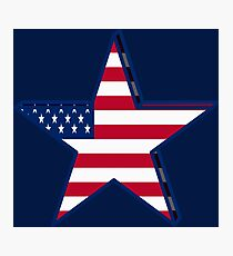USA girly American Flag star red white blue patriotic Photographic Print
