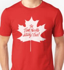 The True North, Maple Leaf in White Unisex T-Shirt