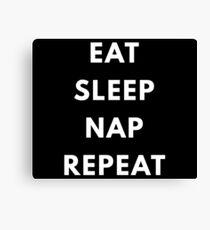 Nap,sleep,procrastinate Canvas Print