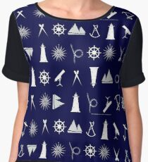 nautical scatter 1 by tony fernandes Women's Chiffon Top