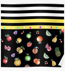 Yellow fruit pattern Poster
