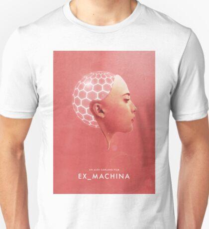 Ex Machina inspirierte Wandkunst Poster Minimalist getragen Deus Ex Alex Garland T-Shirt