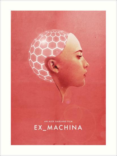 Ex Machina inspirierte Wandkunst Poster Minimalist getragen Deus Ex Alex Garland von Tee Dunk