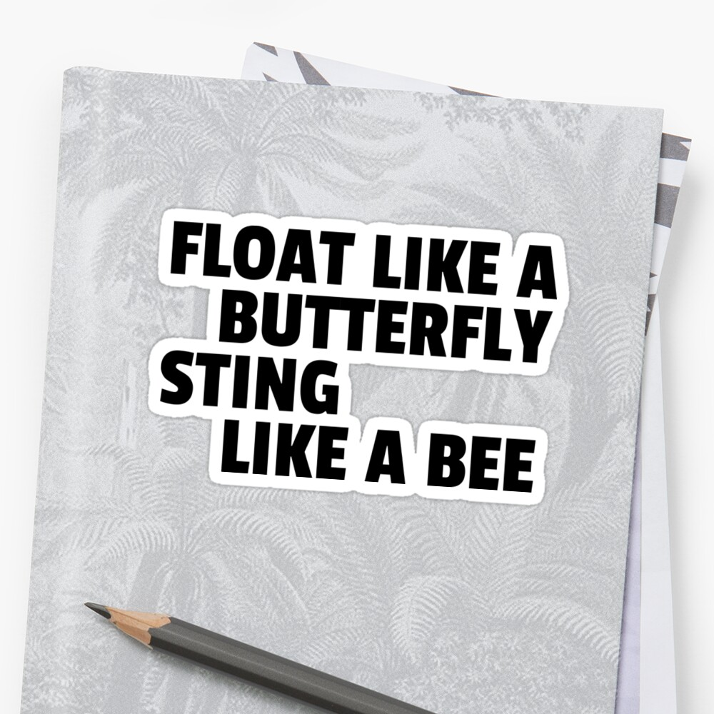 Lab No 4 Float Like A Butterfly Muhammad Ali Inspirational Quote Poster