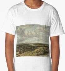 Distant View with Cottages along a Road, Philips Koninck, 1655 Long T-Shirt