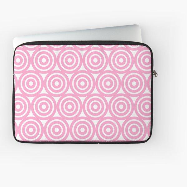 Circle Pattern - Repeating Pink Laptop Sleeve