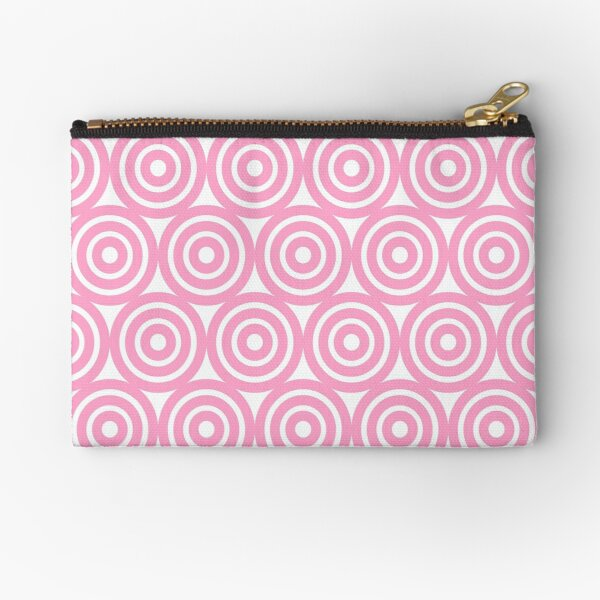 Circle Pattern - Repeating Pink Zipper Pouch