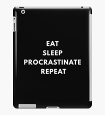 Procrastinate iPad Case/Skin