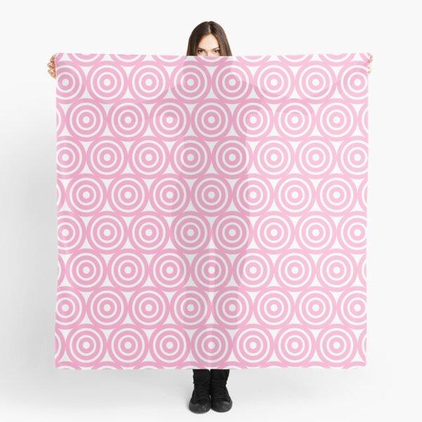 Circle Pattern - Repeating Pink Scarf
