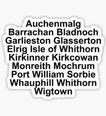 Machars Villages Sticker