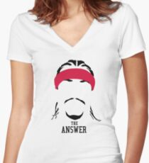 The Answer Women's Fitted V-Neck T-Shirt