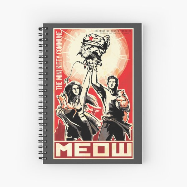 The light of Chairman Meow brings us all to salvation! Spiral Notebook