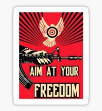 Revolución kalashnikov freedom liberty graffiti propaganda Sticker