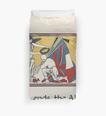 The Child's ABC of the War Geoffrey Whitworth Stanley North 1914 Z ends the Alphabet Also my Story Duvet Cover