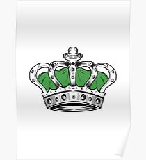 Crown - Green Poster