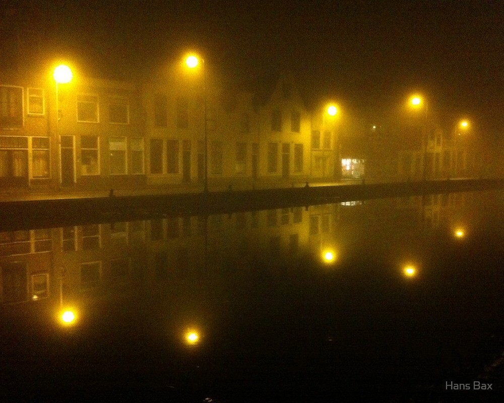 Misty Evening in Gouda by Hans Bax