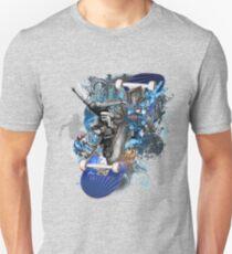 Wild City Skateboard Rider Collage, T-Shirt