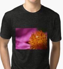 Pink Rockrose Tri-blend T-Shirt