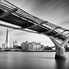 Millenium Bridge and Shard by Delfino