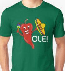 Red Pepper Cinco de Mayo Funny Sumbrero Maracas Unisex T-Shirt