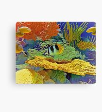 In the Coral Garden 10 Canvas Print