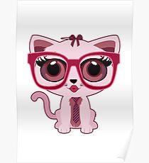 Kitten Nerd Poster
