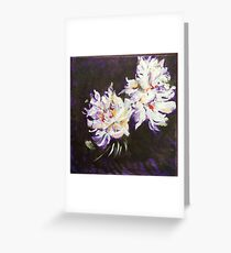 Twin Peonies Greeting Card