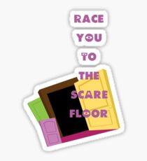 Monsters, Inc.- Race you to the Scare Floor Sticker