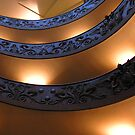 Vatican Stairs Looking Up by michelle123