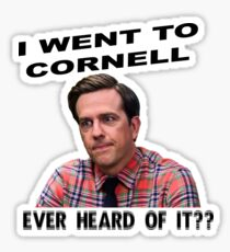 Andy Bernard, Cornell Grad Sticker