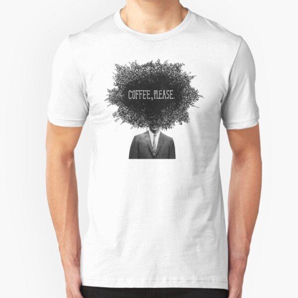 Coffee, Please Slim Fit T-Shirt