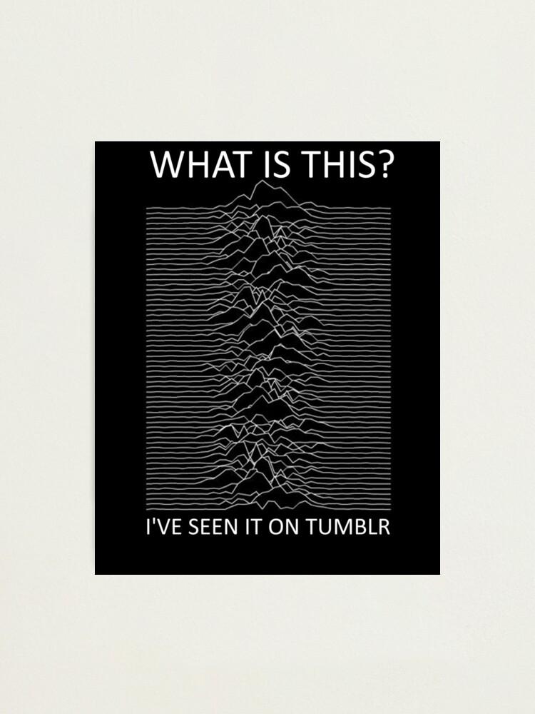 Joy Division /'Unknown Pleasures/' Album Premium Poster Print Professional Grade