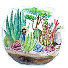 Terrarium - Watercolor by Lauren King
