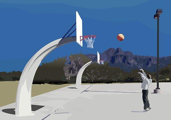 shooting hoops by Mason Mullally