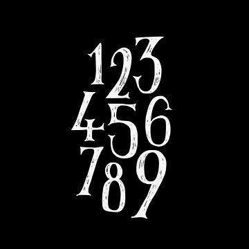 Black Number 1-9 by simpleserene
