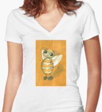 Ochre Bee Women's Fitted V-Neck T-Shirt